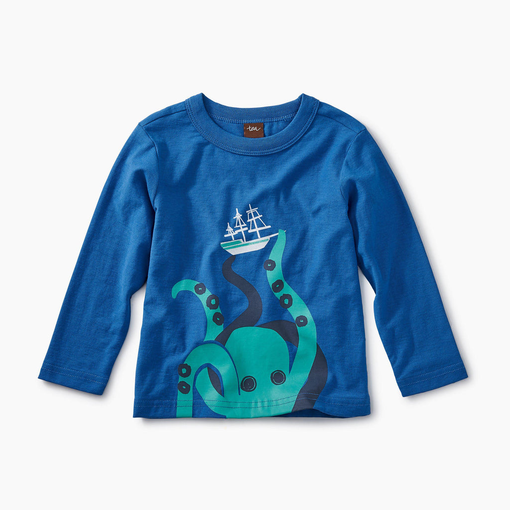 Giant Octopus Graphic Tee-Tees-Tea Collection-12-18M-Eden Lifestyle