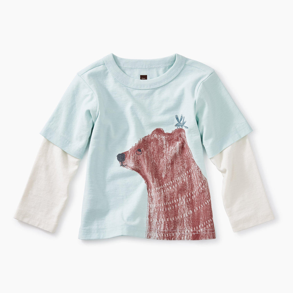 Brown Bear Layered Graphic Tee