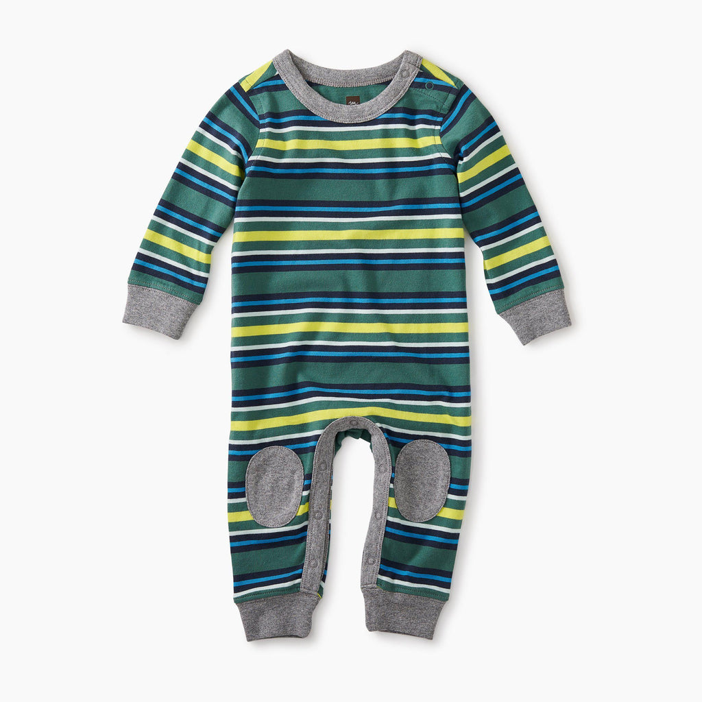 Striped Knee Patch Romper-Baby Boy Apparel - Rompers-Tea Collection-18-24M-Eden Lifestyle