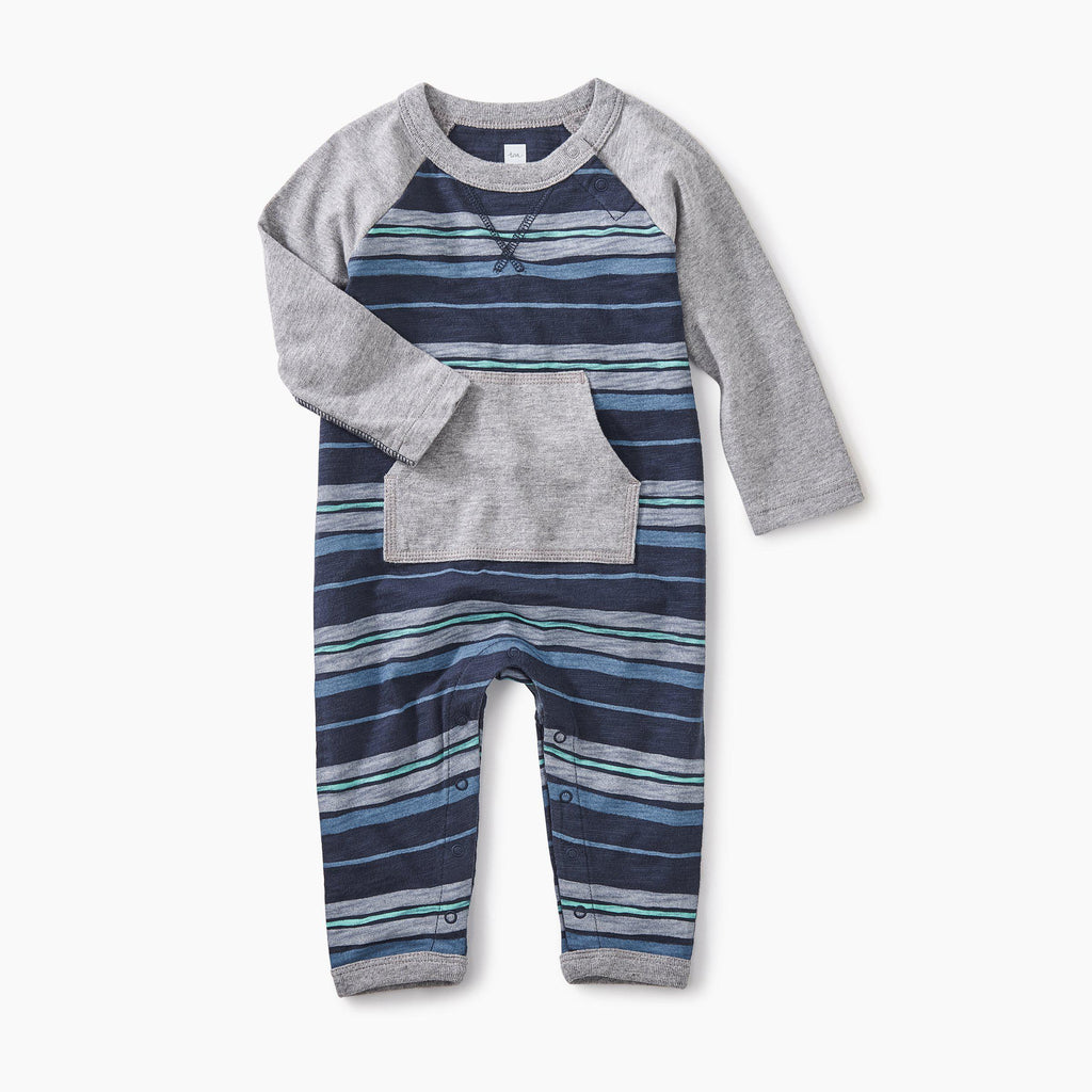 Striped Pocket Romper-Baby Boy Apparel - Rompers-Tea Collection-18-24M-Eden Lifestyle