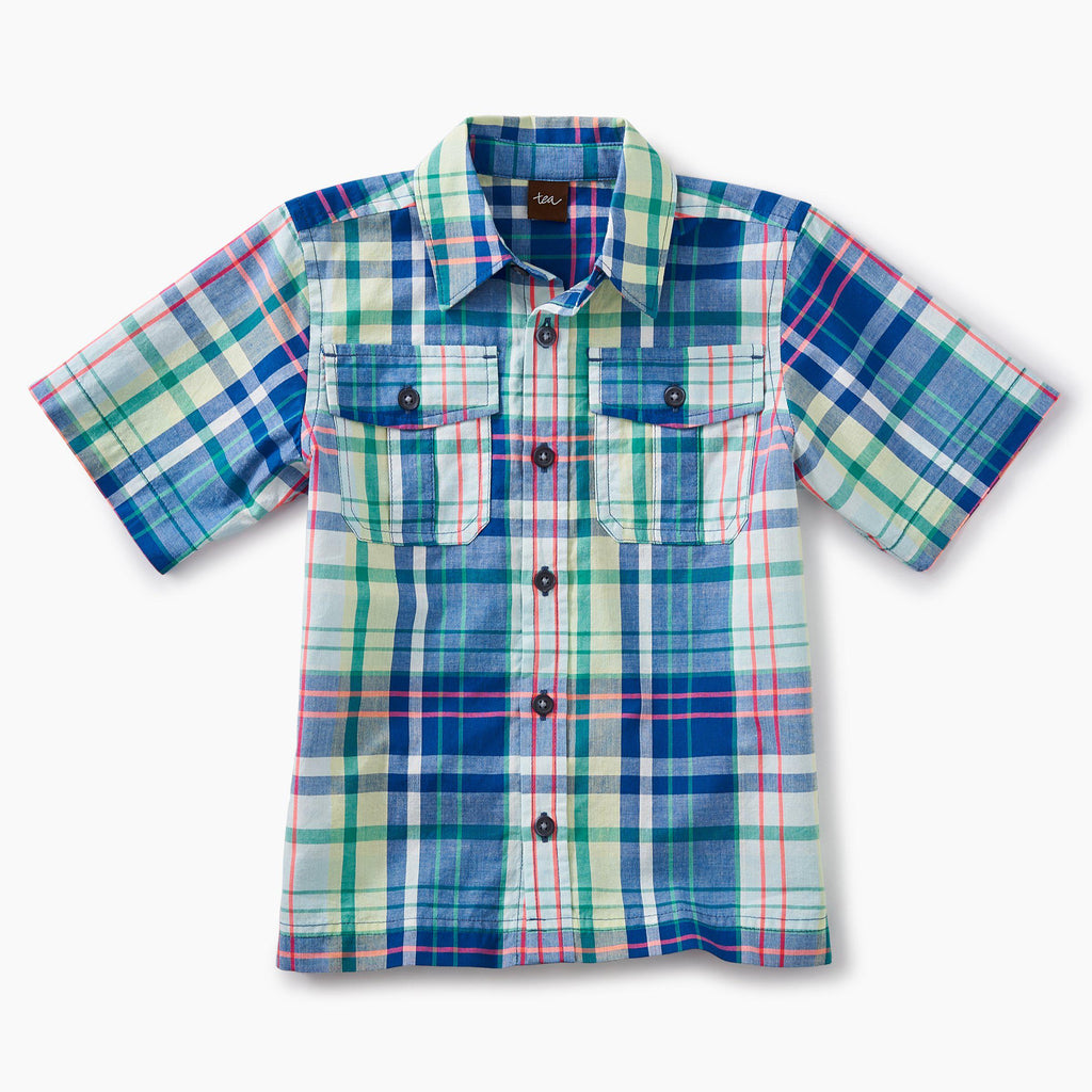 Plaid Buttoned Shirt-Boy - Shirts-Tea Collection-2-Eden Lifestyle