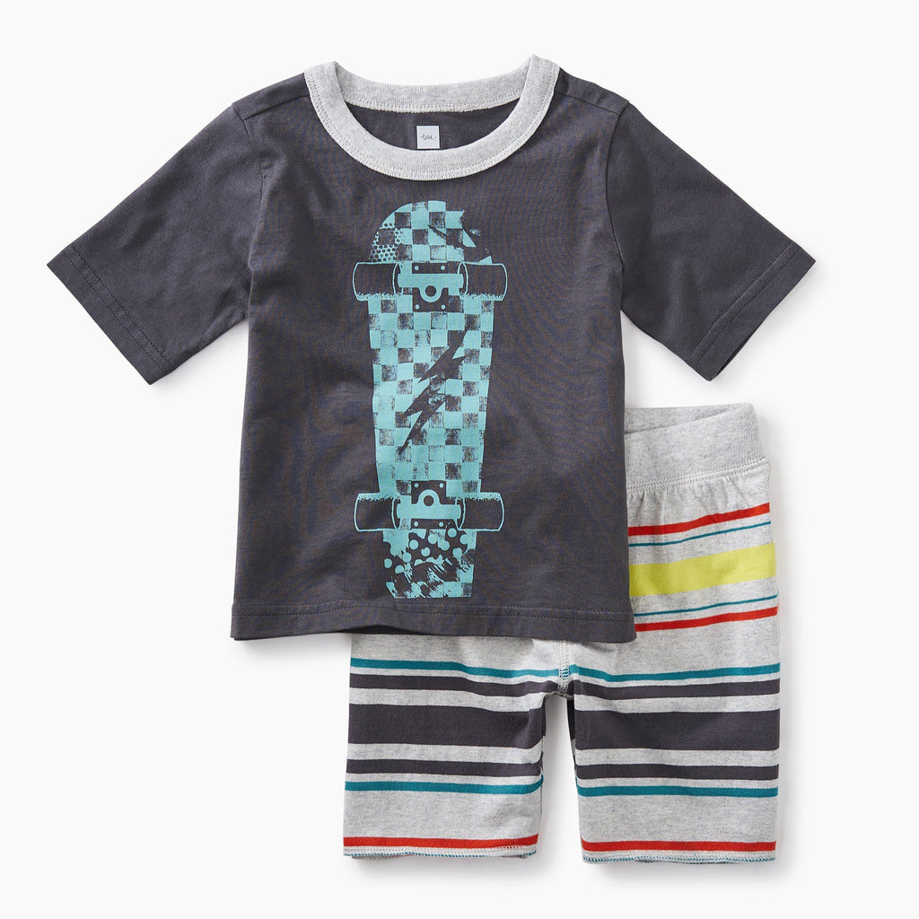 Skateboard Baby Outfit-Baby Boy Apparel - Outfit Sets-Tea Collection-6-9M-Eden Lifestyle