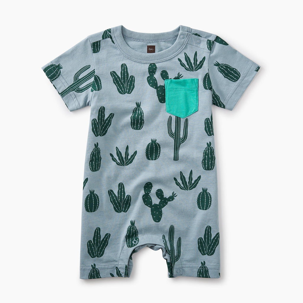 Print Pocket Romper-Baby Boy Apparel - Rompers-Tea Collection-3-6M-Eden Lifestyle