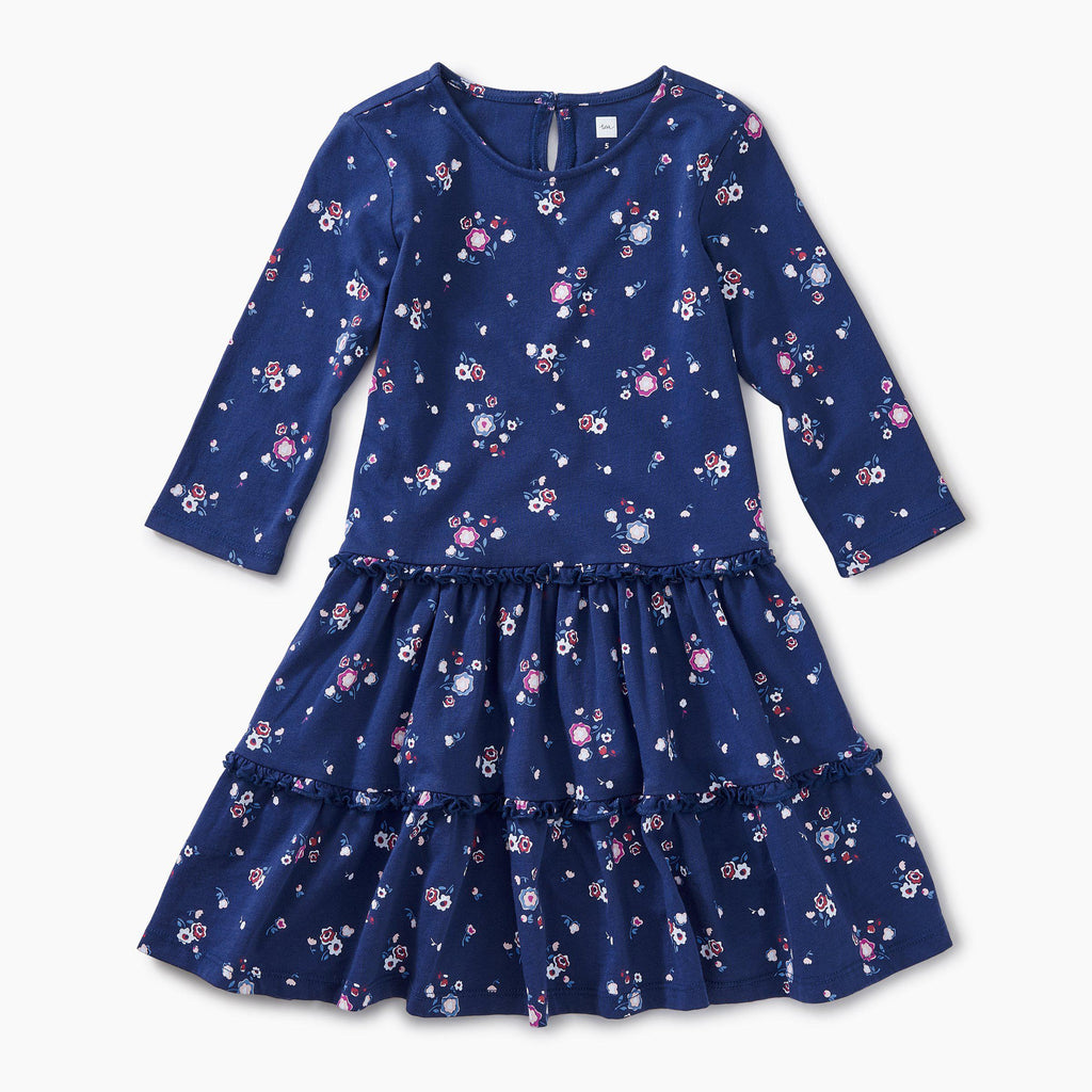 Winter Blooms Tiered Dress
