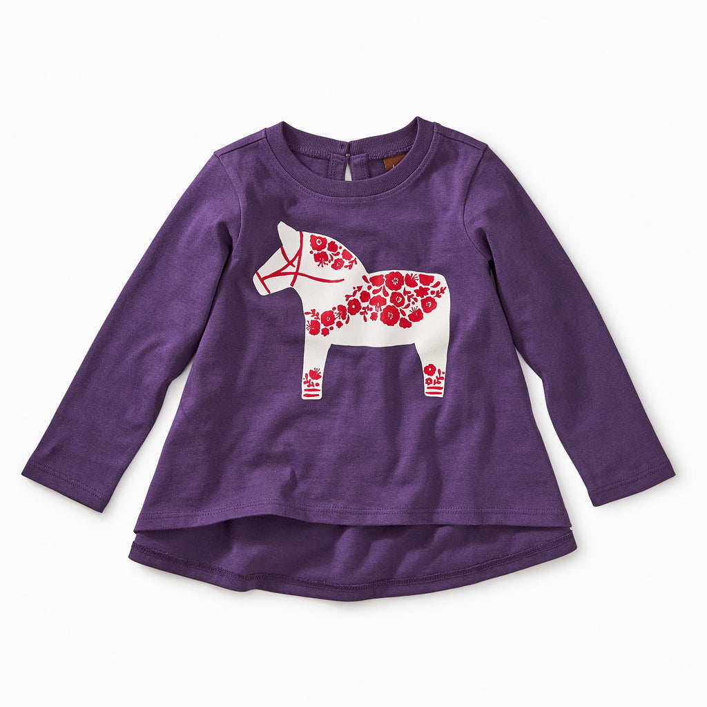 Scandi Pony Twirl Tee-Baby Girl Apparel - Shirts & Tops-Tea Collection-3-6M-Eden Lifestyle
