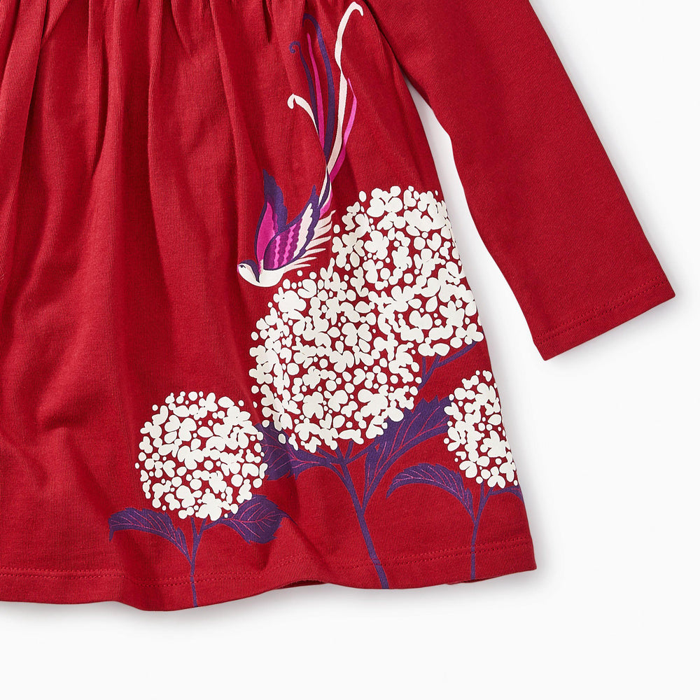 Snow Blossoms Graphic Dress-Baby Girl Apparel - Dresses-Tea Collection-3-6M-Eden Lifestyle
