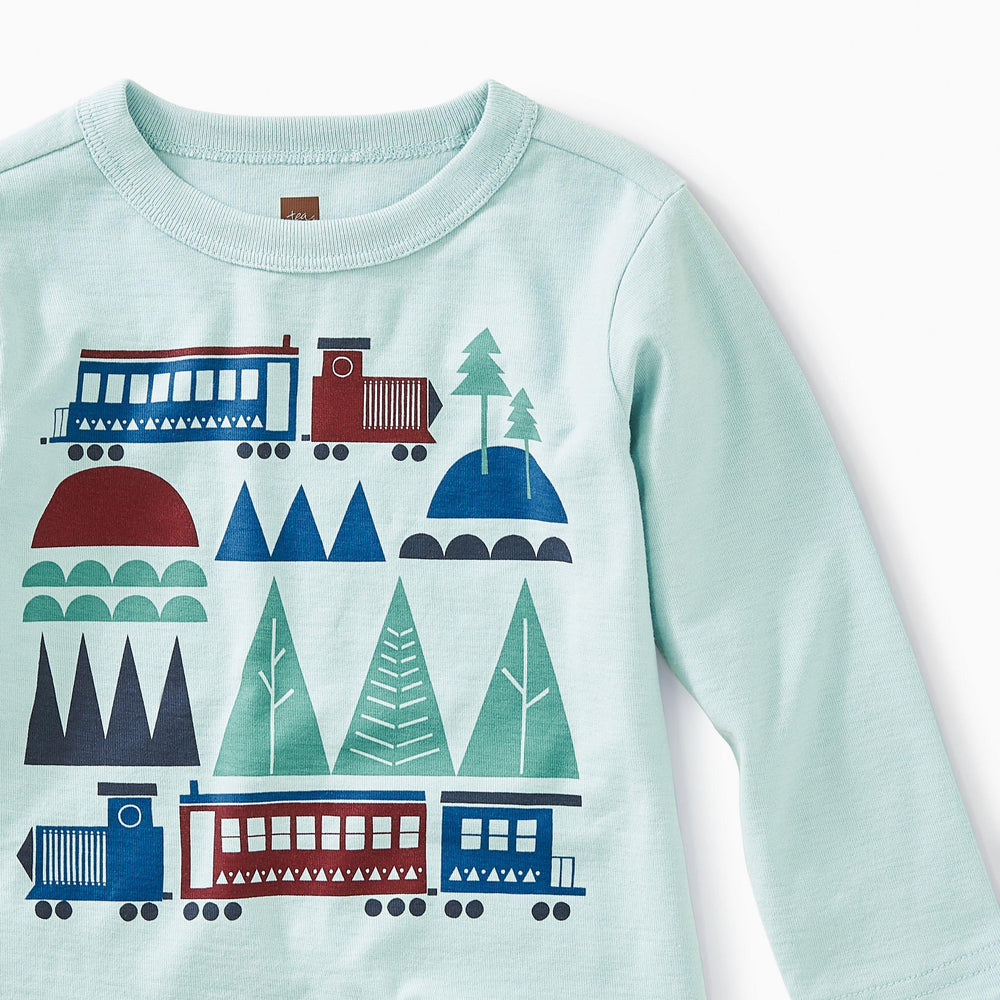 Tea Collection, Baby Boy Apparel - Shirts & Tops,  Train Trek Graphic Tee