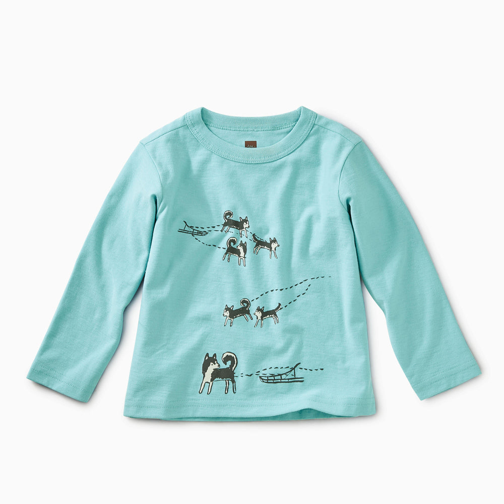 Tea Collection, Girl - Tees,  Sled Pups Graphic Tee