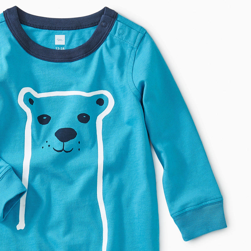 Furry Friend Graphic Romper-Tees-Tea-0-3m-Eden Lifestyle