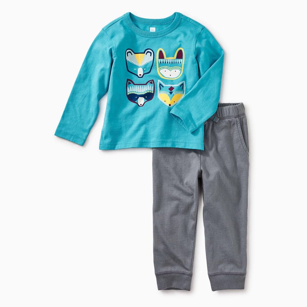 Bondi Blue Critters OUtfit-Boys Sets-Tea Collection-3-6M-Eden Lifestyle