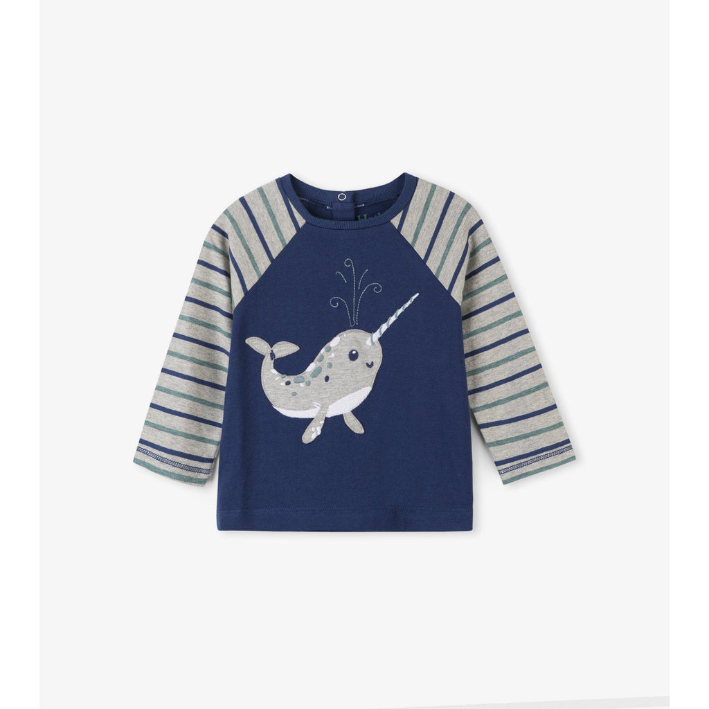 Adorable Narwhale Reglan Baby Tee