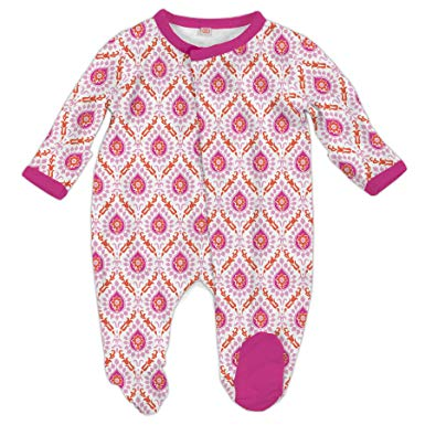 Magnetic Me by Magnificent Baby Floral Damask Modal Magnetic Footie-Baby Girl Apparel - One-Pieces-Magnificent Baby-0-3M-Eden Lifestyle