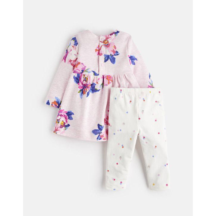 fbc6b1b2a Joules Christina Dress and Leggings Set - Pink Marl Granny Floral-Baby Girl  Apparel -