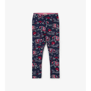 Hatley Elegant Elephants Legging-Girl - Leggings-Hatley-4-Eden Lifestyle