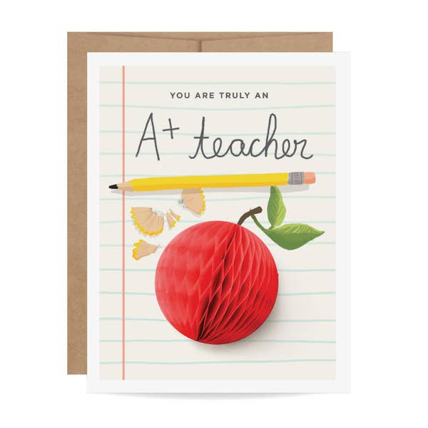 Eden Lifestyle, Gifts - Greeting Cards,  A+ Teacher Pop-up Card