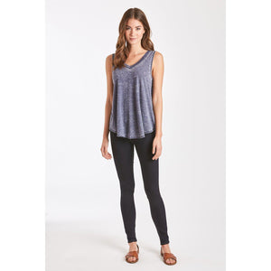 Another Love, Women - Shirts & Tops,  Allison Navy Burnout V-Neck