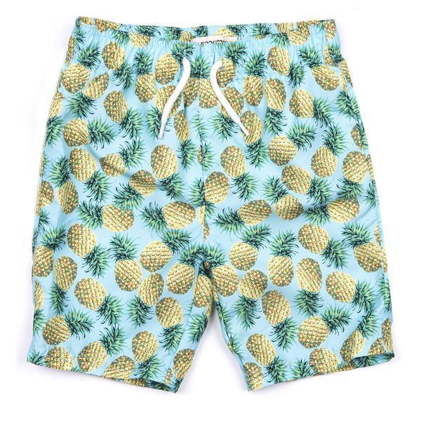 Appaman Mid Length Swim Trunks - Pineapple-Baby Boy Apparel - Swimwear-Appaman-3-6M-Eden Lifestyle