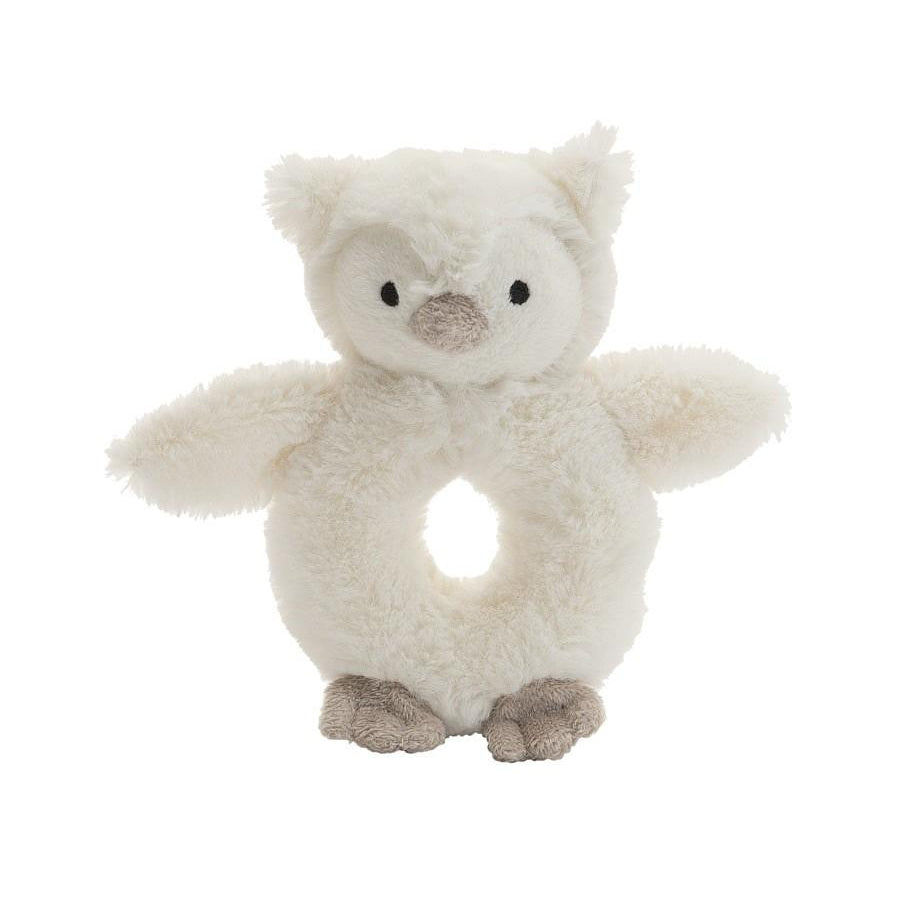 Jellycat Bashful Owl Ring Rattle-Gifts - Stuffed Animals-Jellycat-Eden Lifestyle