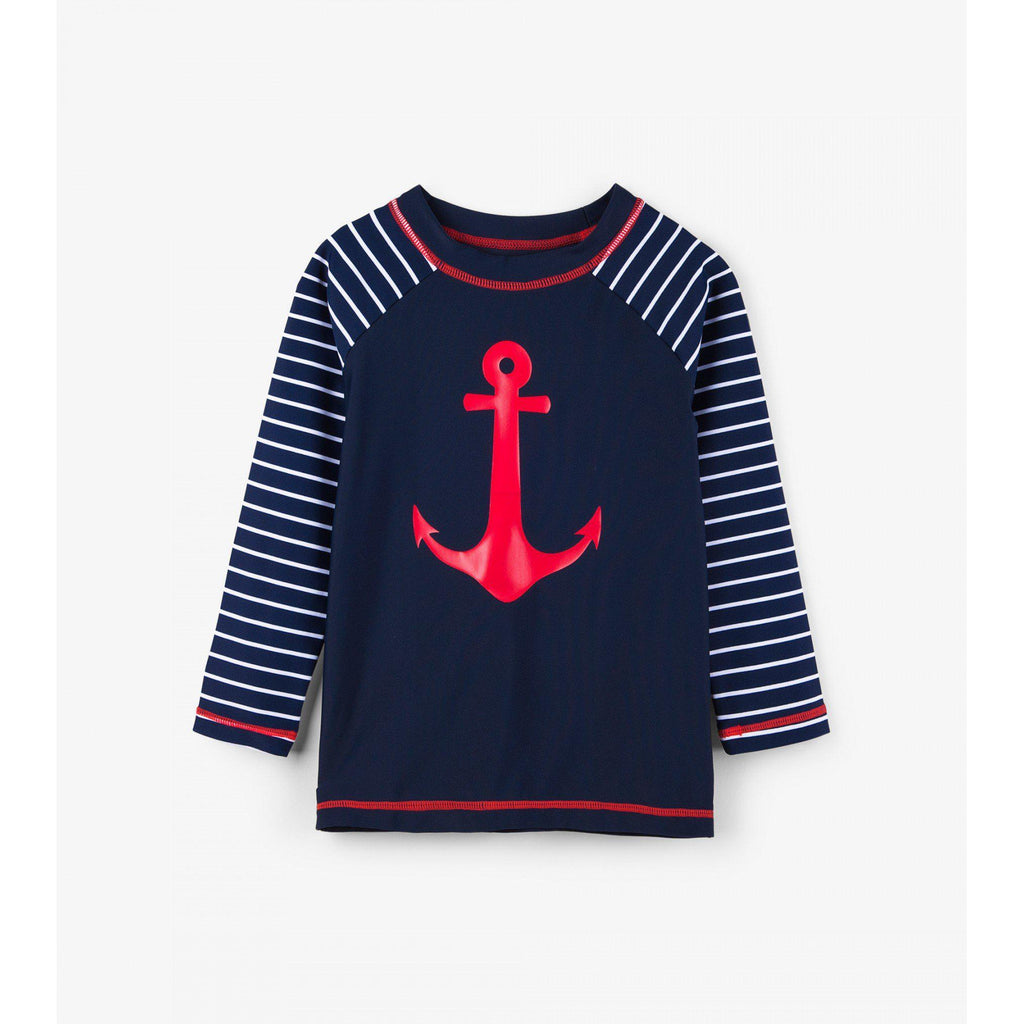 Hatley Sea Anchors Long Sleeve Rashguard-Boy - Swimwear-Hatley-2-Eden Lifestyle