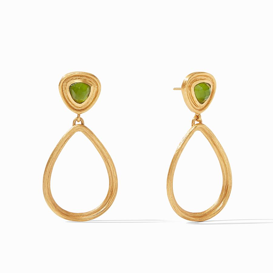 Julie Vos - Barcelona Statement Earring Iridescent Jade Green