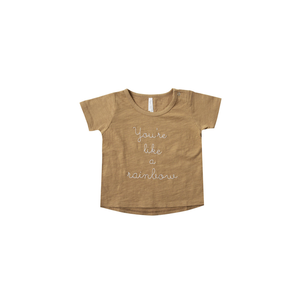 Rylee & Cru Rainbow Basic Tee-Baby Girl Apparel - Tees-Rylee and Cru-6-12M-Eden Lifestyle