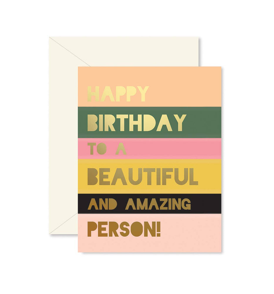 Eden Lifestyle Boutique, Gifts - Greeting Cards,  Beautiful Person Colorblock Birthday