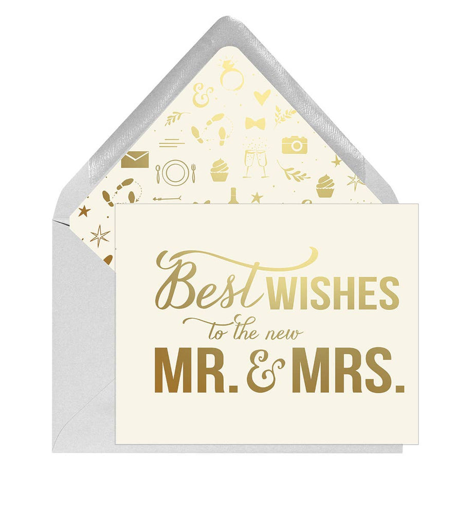 Eden Lifestyle Boutique, Gifts - Greeting Cards,  Best Wishes Mr and Mrs Card