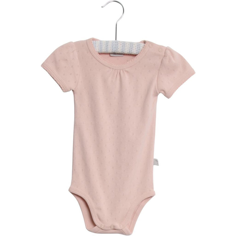 Wheat, Baby Girl Apparel - One-Pieces,  Wheat Body Frill Onesie Powder