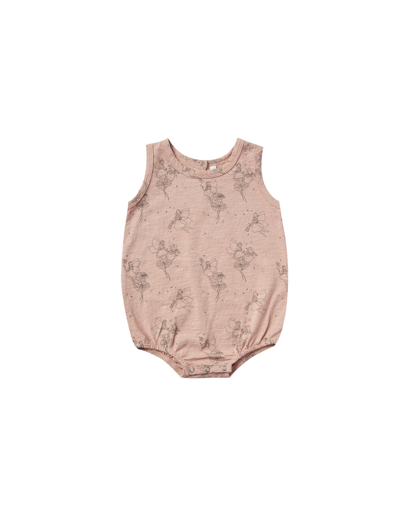 Rylee and Cru, Baby Girl Apparel - One-Pieces,  Fairy Bubble Onesie Rose