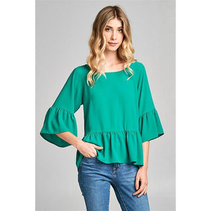 Eden Lifestyle, Women - Shirts & Tops,  Kiki Ruffles