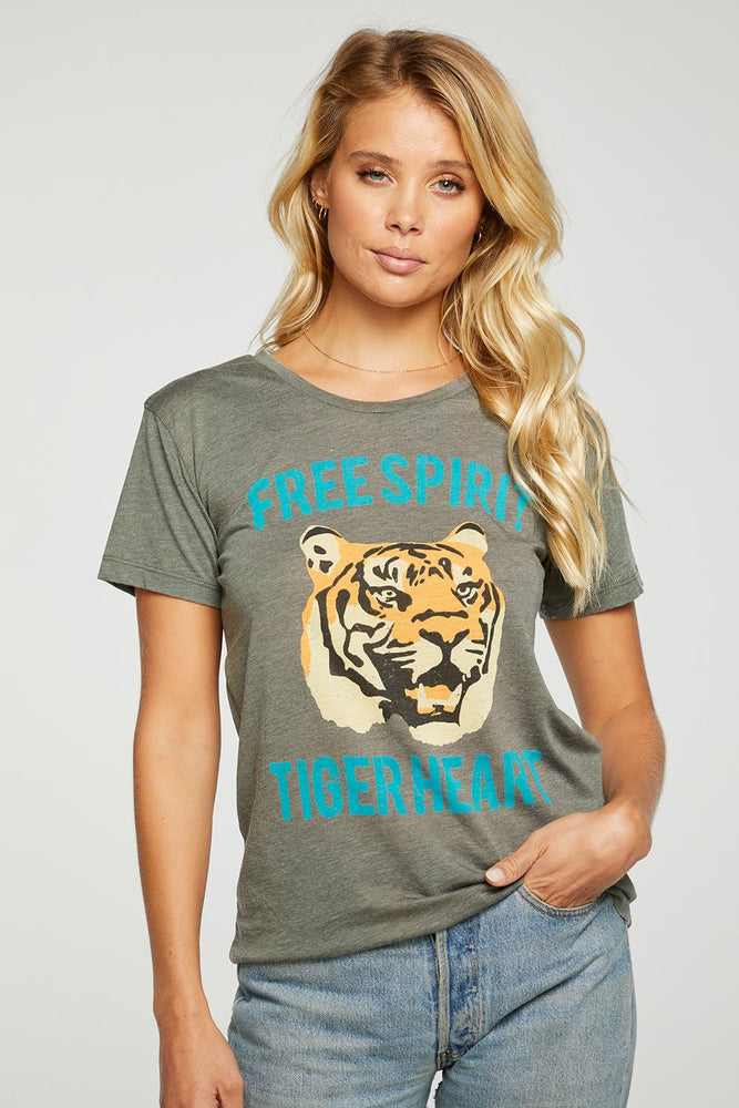 Chaser, Women - Tees,  Chaser Spirit Tiger Recycled Vintage Jersey Tee