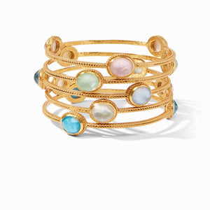 Julie Vos, Accessories - Jewelry,  Julie Vos - Calypso Bangle Iridescent Clear Crystal