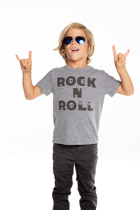Chaser, Boy - Tees,  Chaser - Boys Triblend Short Sleeve Crew Neck Tee - Rock N Roll