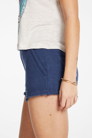 Chaser, Women - Shorts,  Chaser - Linen French Terry Easy Shorts With Pockets