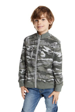 Chaser, Boy - Shirts,  Chaser Boys Love Knit Zip up Mock Neck Jacket with Rib