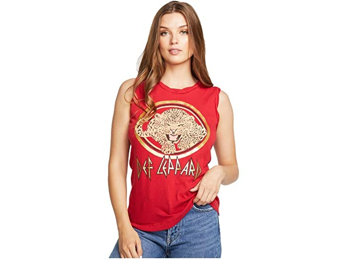 Chaser, Women - Tees,  Chaser Def Leppard Muscle Tank - Animal
