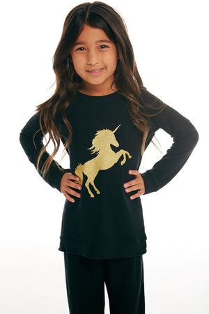 Chaser, Girl - Shirts & Tops,  Chaser - Golden Unicorn Pullover