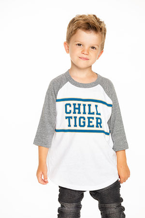 Chaser, Boy - Tees,  Chaser Boys Vintage Jersey Raglan Chill Tiger Tee