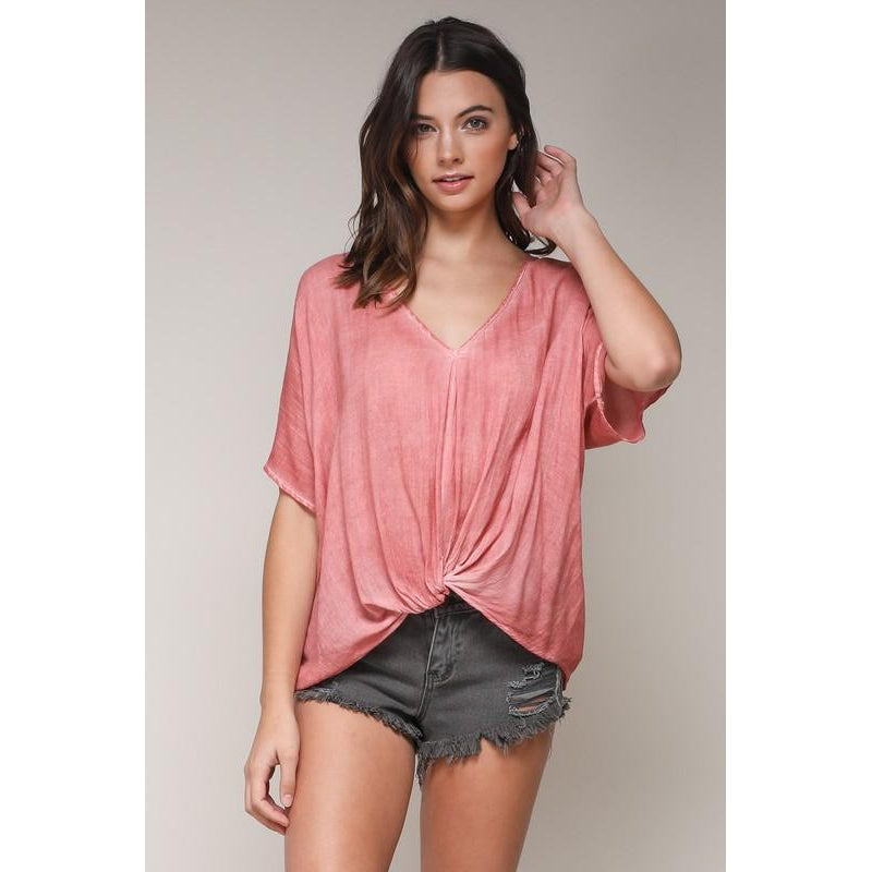 Eden Lifestyle, Tops,  Coral Knot Top