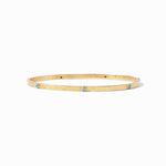 Julie Vos - Crescent Gold Bangle Pacific Blue