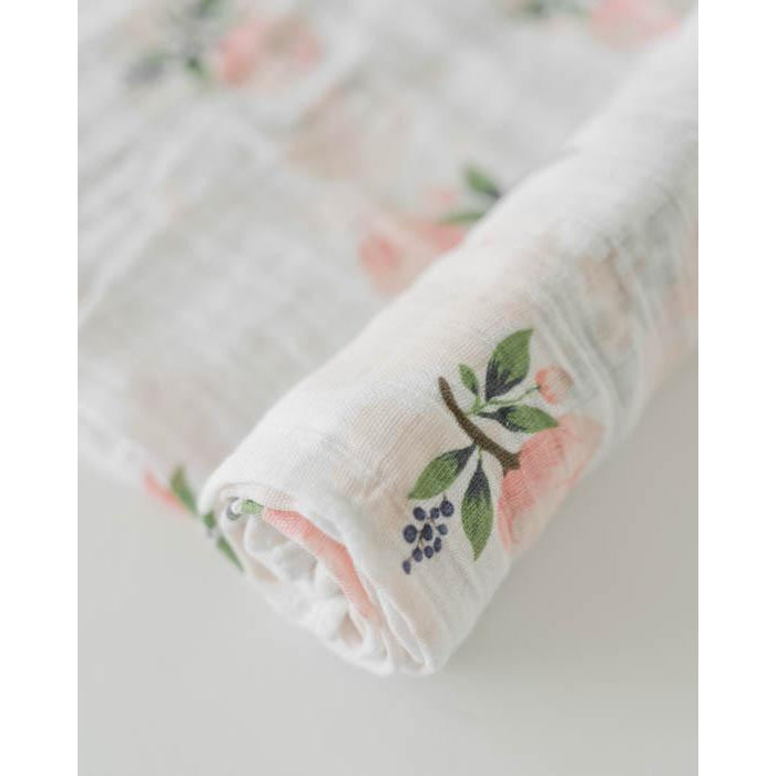 Little Unicorn Swaddle - Watercolor Rose-Accessories-Little Unicorn-Eden Lifestyle