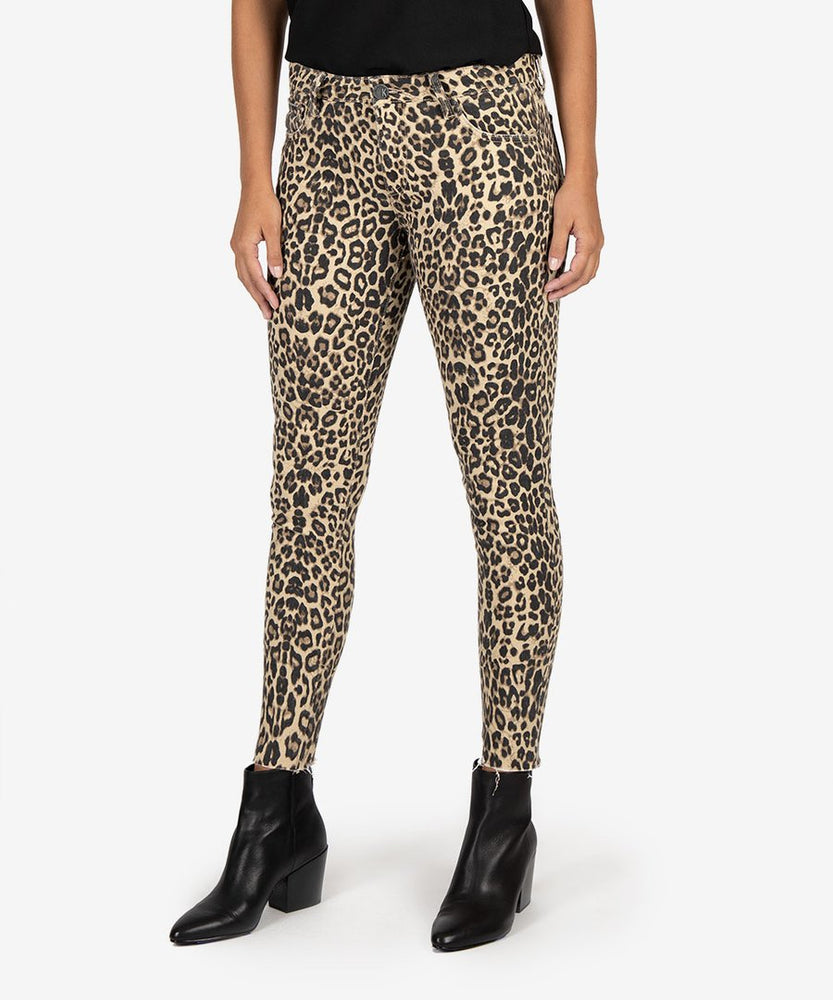 KUT from the Kloth |  Donna Slim Fit Ankle Skinny (Leopard)