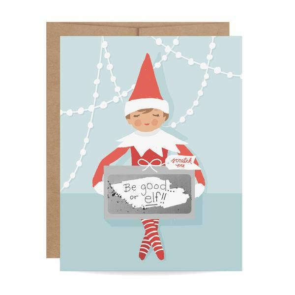 Eden Lifestyle, Gifts - Greeting Cards,  Elf On The Shelf Scratch-off Card