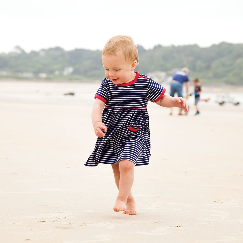 Jojo Maman Bebe Essential Navy Stripe Summer Dress-Girl - Dresses-Jojo Maman Bebe-2-3Y-Eden Lifestyle