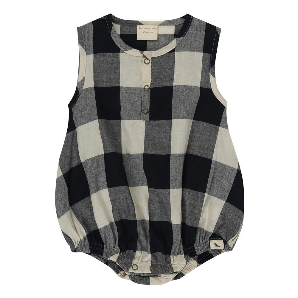 Turtledove London Check Woven Bubble Romper-Baby Girl Apparel - One-Pieces-Turtledove London-0-3M-Eden Lifestyle