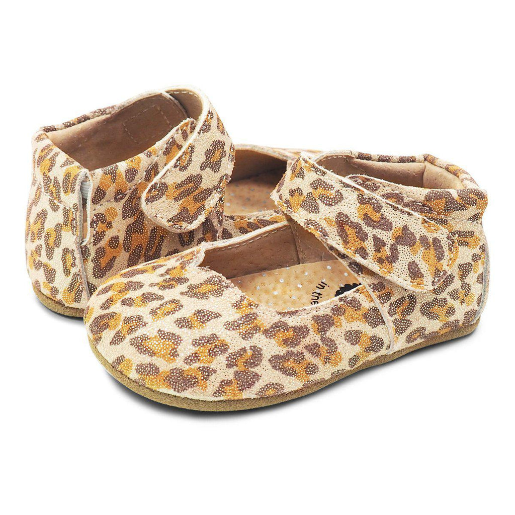 Livie & Luca Astrid Mary Jane Leather Leopard Shoe-Shoes - Girl-Livie & Luca-6-12M-Eden Lifestyle