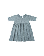 Rylee and Cru, Baby Girl Apparel - Dresses,  Rylee & Cru Snow Finn Dress Dusty Blue