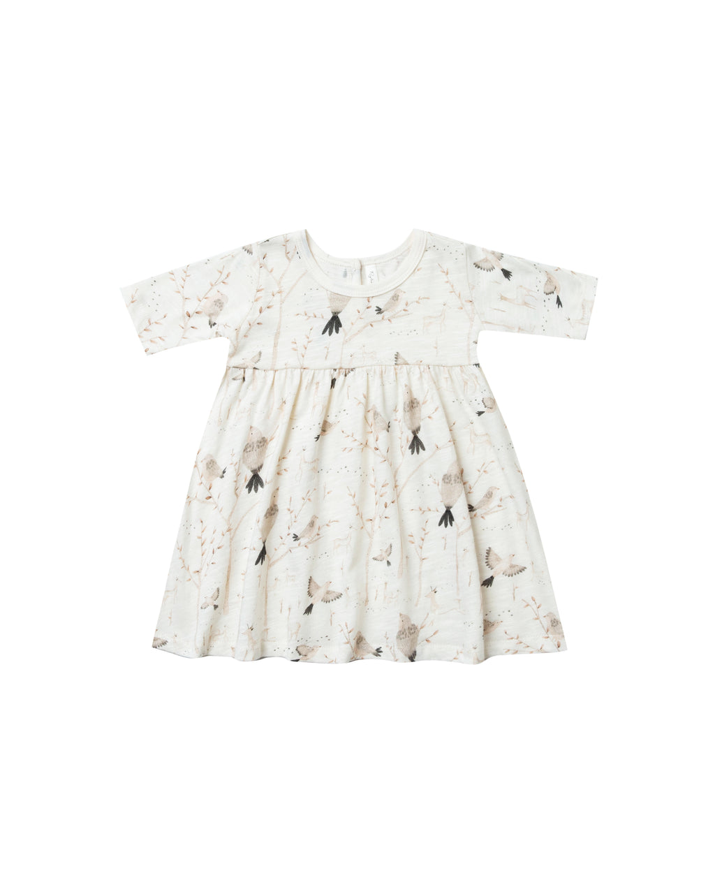 Rylee & Cru Winter Birds Finn Dress Ivory