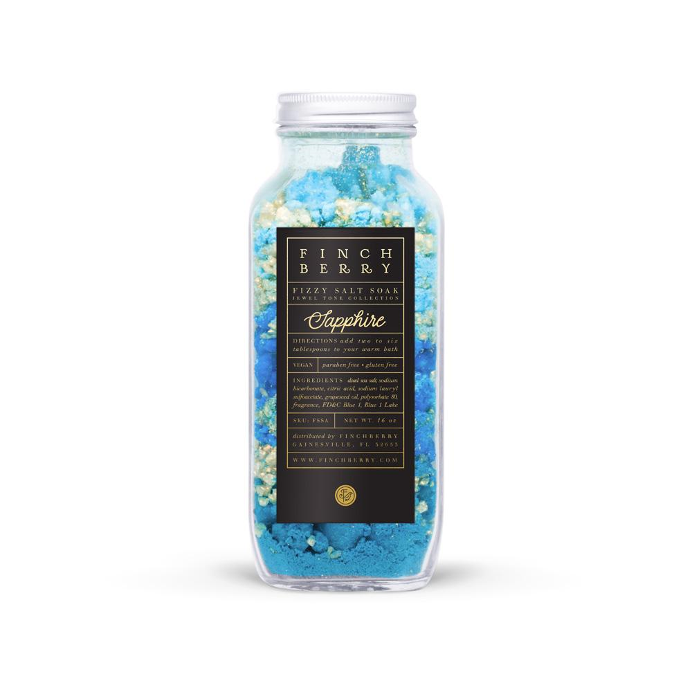 Finch Berry, Gifts - Beauty & Wellness,  Finch Berry Sapphire Fizzy Salt Soak