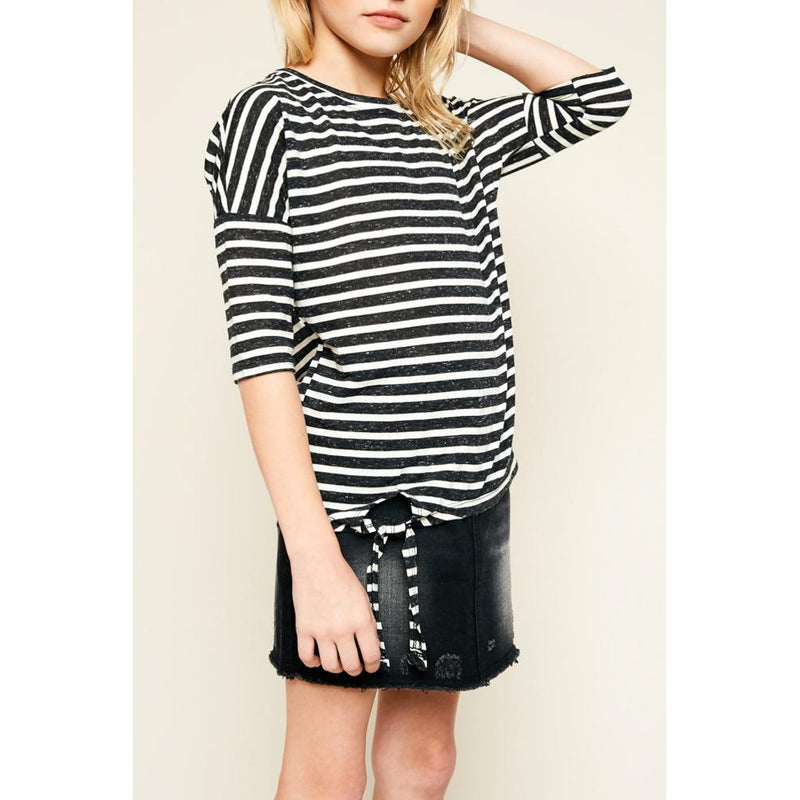 Fun Stripes Knotted Top